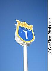 Race course sign