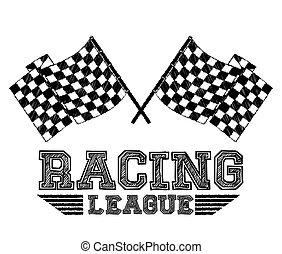 Race design, vector illustration.