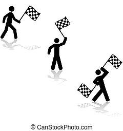 Race flag bearer