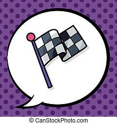 race flag doodle