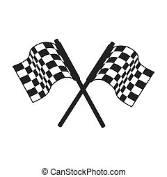 race flag formula vector graphic icon