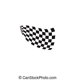 Race flag icon logo design