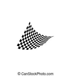 Race flag icon vector design illustration