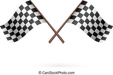 Race Flag Icon. Vector illustration