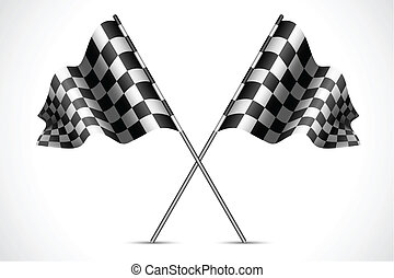 Race Flag - illustration of race flag with checkered texture