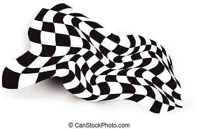 race flag waving background layout design