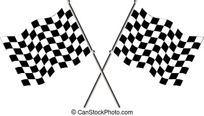 Race flags vector illustration.