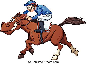 Race Horse - Cartoon race horse. Vector clip art ...