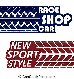 Race logotypes set