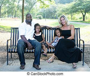 race mélangée, famille, aimer