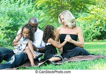 race mélangée, famille