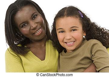 race mélangée, moderne, famille