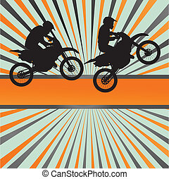 Race motorcycle burst vector background for poster