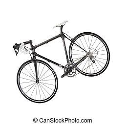 race road bike isolated