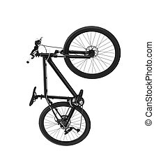 race road bike isolated on white background