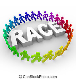 Race - Runners Around World - Many runners of different...