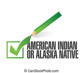 race selection. american indian. illustration design over a white background