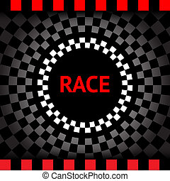 Race-square-black-background, vector illustration 10eps