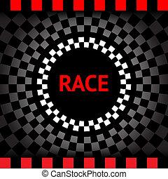 race-square-black-background
