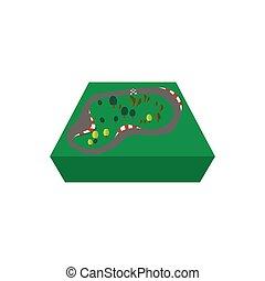 Race track cartoon icon