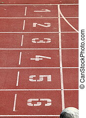 Race track in a stadium - Start and Finish point of a race...