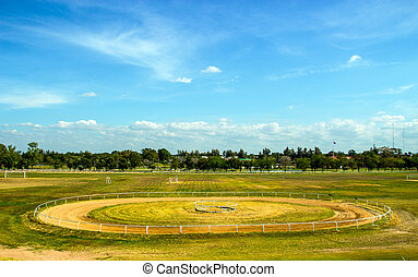 Race track of Horse field