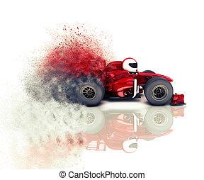 race voiture, 3d, expédier