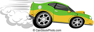 race voiture, dessin animé