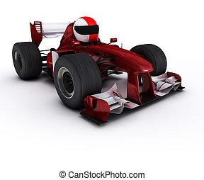 race voiture, morph, homme