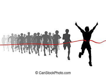 Race winner - Illustration of the winner of a race