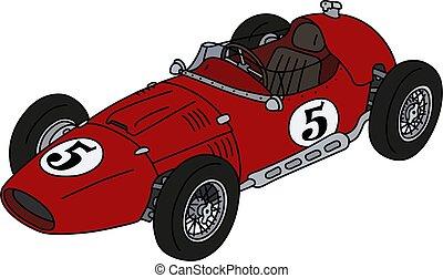 racecar, rosso, classico