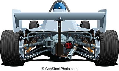 racecars., elevation., 後部