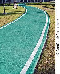 racecourse, 緑