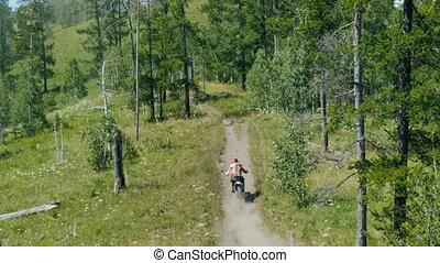 racer a motorcyclist rides