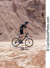 racer bike desert area