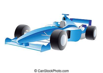 racer - Vector illustration of racer under the white...