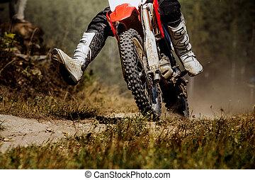 racer on a race bike