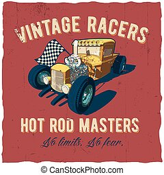 Racers Hot Rod Masters Poster