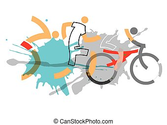 racers, triathlon