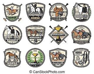 races, sport, icônes, polo, jockey, chevalin, cheval