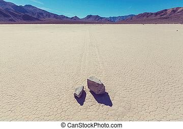 Racetrack playa - Racetrack Playa at Death Valley - moving...
