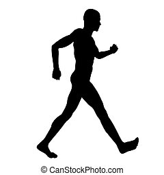 Racewalker Silhouette - Computer generated 2D illustration...