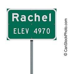 Rachel City Limit road sign