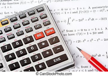 rachunki, kalkulator, naukowy, następny