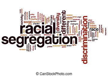Racial segregation word cloud
