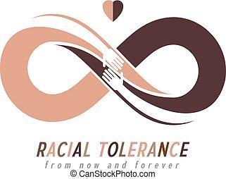 Racial Tolerance between different Nations conceptual...