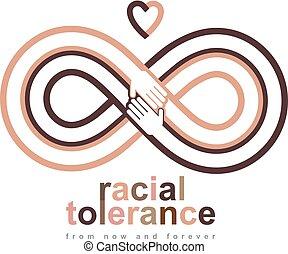 Racial Tolerance conceptual symbol, Martin Luther King Day,...