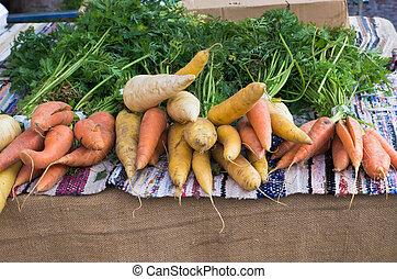 racine, vegetables.