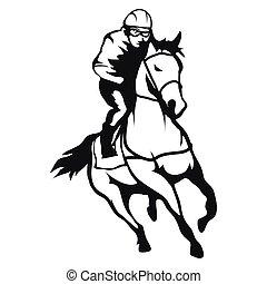 racing., 馬