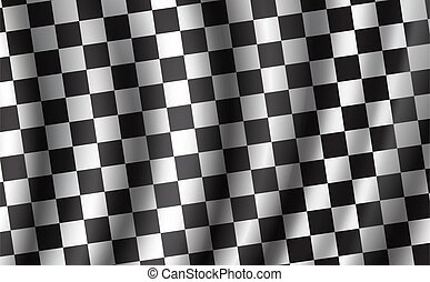 Racing and rally car checkered vector flag